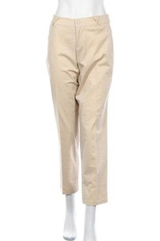 Дамски панталон Biaggini, Размер M, Цвят Бежов, 98% памук, 2% еластан, Цена 5,05лв.