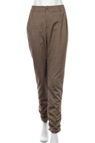 Dámské kalhoty  Dept, Velikost XL, Barva Hnědá, 77% bavlna, 20% viskóza, 3% elastan, Cena  424,00Kč
