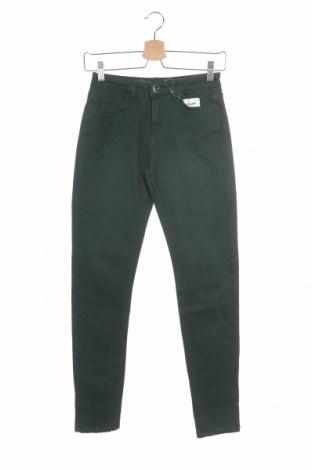 Дамски панталон Desigual, Размер XS, Цвят Зелен, 97% памук, 3% еластан, Цена 21,97лв.