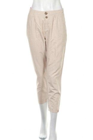 Dámské kalhoty  Edc By Esprit, Velikost L, Barva Béžová, 65% bavlna, 35% len, Cena  424,00Kč