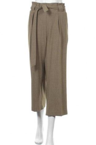 Дамски панталон Free Quent, Размер XXL, Цвят Зелен, 64% полиестер, 32% вискоза, 4% еластан, Цена 20,79лв.