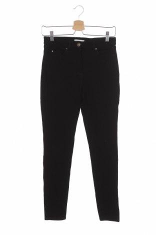 Дамски панталон H&M, Размер XS, Цвят Черен, 58% вискоза, 37% памук, 5% еластан, Цена 8,09лв.