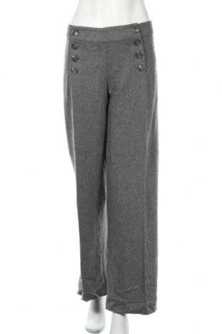 Дамски панталон H&M, Размер L, Цвят Сив, 55% вълна, 42% вискоза, 3% еластан, Цена 17,64лв.