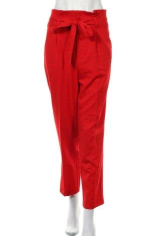 Dámské kalhoty  H&M, Velikost XXL, Barva Červená, 74% polyester, 22% viskóza, 4% elastan, Cena  333,00Kč