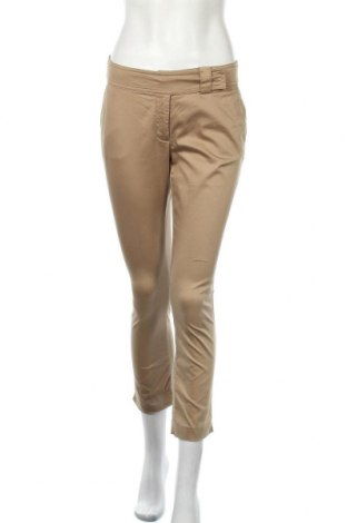 Дамски панталон Hallhuber, Размер S, Цвят Бежов, 59% памук, 38% полиамид, 3% еластан, Цена 12,60лв.
