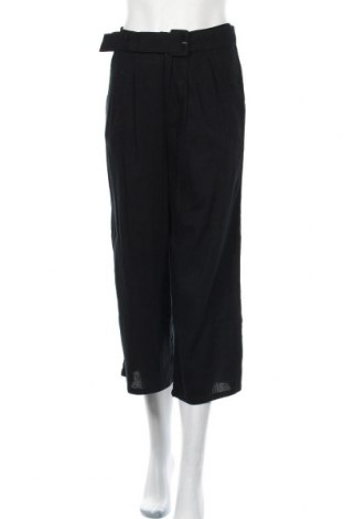 Дамски панталон Hollister, Размер S, Цвят Черен, 69% памук, 23% вискоза, 8% лен, Цена 14,70лв.