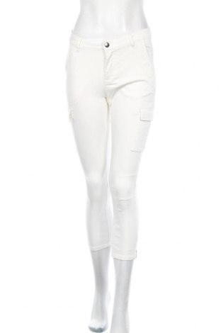Дамски панталон Kaffe, Размер S, Цвят Бял, 64% памук, 34% полиестер, 2% еластан, Цена 81,75лв.