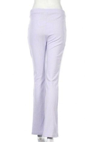 Дамски панталон Monki, Размер M, Цвят Лилав, 96% полиестер, 4% еластан, Цена 42,00лв.