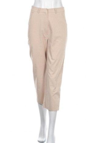 Дамски панталон Na-Kd, Размер S, Цвят Бежов, 60% памук, 35% полиестер, 5% еластан, Цена 6,30лв.