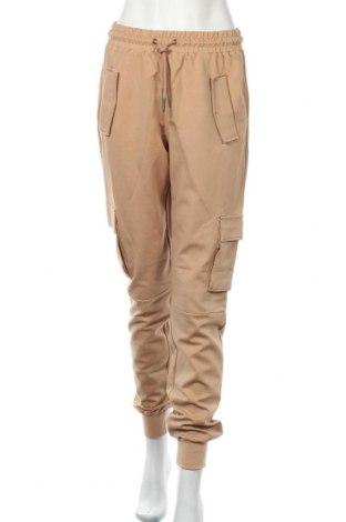 Дамски панталон Noisy May, Размер M, Цвят Бежов, 58% вискоза, 37% полиамид, 5% еластан, Цена 27,87лв.