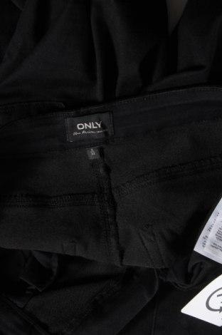Дамски панталон ONLY, Размер S, Цвят Черен, 69% памук, 29% полиестер, 2% еластан, Цена 21,43лв.