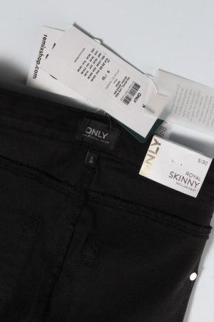 Дамски панталон ONLY, Размер S, Цвят Черен, 69% памук, 29% полиестер, 2% еластан, Цена 20,48лв.