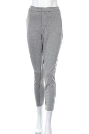 Дамски панталон ONLY, Размер M, Цвят Сив, 63% вискоза, 32% полиамид, 5% еластан, Цена 20,02лв.