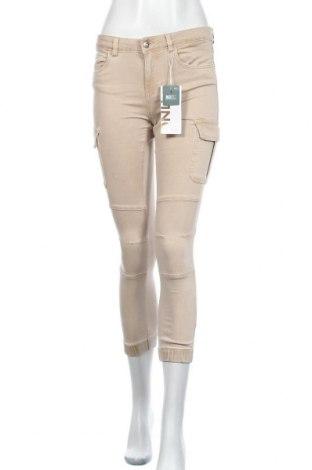 Дамски панталон ONLY, Размер S, Цвят Бежов, 98% памук, 2% еластан, Цена 14,75лв.