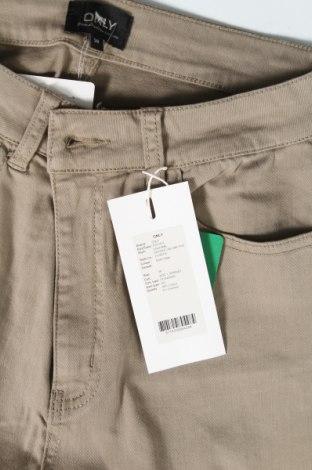 Дамски панталон ONLY, Размер M, Цвят Зелен, 98% памук, 2% еластан, Цена 12,37лв.
