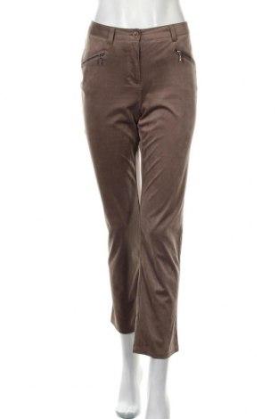 Дамски панталон Paola, Размер M, Цвят Кафяв, 92% полиестер, 8% еластан, Цена 5,88лв.
