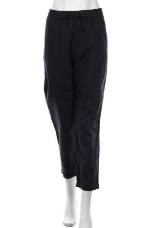 Дамски панталон Sussan, Размер XL, Цвят Син, 55% лен, 45% памук, Цена 27,30лв.