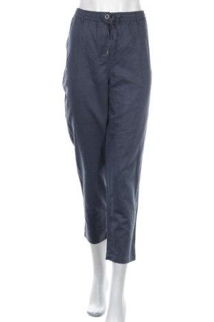 Дамски панталон Sussan, Размер L, Цвят Син, 55% лен, 45% памук, Цена 24,15лв.