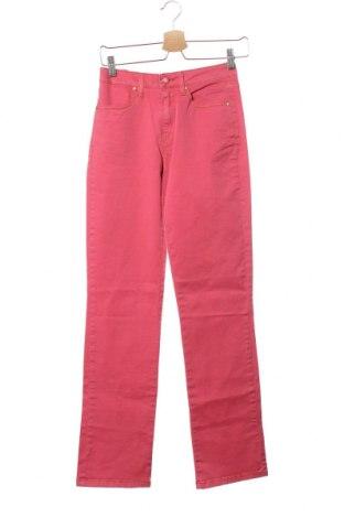 Дамски панталон United Colors Of Benetton, Размер XS, Цвят Розов, 98% памук, 2% еластан, Цена 33,22лв.