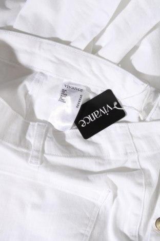 Дамски панталон Vivance, Размер L, Цвят Бял, 97% памук, 3% еластан, Цена 18,15лв.