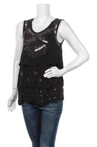 Γυναικείο αμάνικο μπλουζάκι Desigual, Μέγεθος S, Χρώμα Μαύρο, Βισκόζη, Τιμή 24,43€