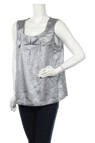 Γυναικείο αμάνικο μπλουζάκι Suzanne Grae, Μέγεθος L, Χρώμα Γκρί, Πολυεστέρας, Τιμή 3,64€