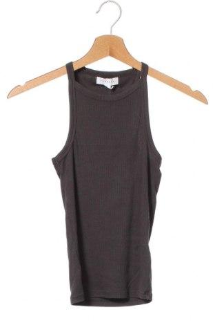 Дамски потник Topshop, Размер XS, Цвят Сив, 95% памук, 5% еластан, Цена 15,60лв.