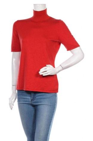 Dámský svetr, Velikost L, Barva Červená, 68% hedvábí, 20% elastan, 12% vlna, Cena  316,00Kč
