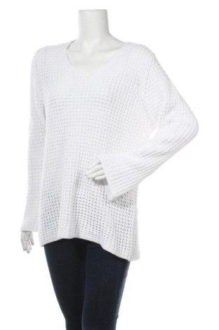 Dámský svetr, Velikost XL, Barva Bílá, 55% ramie , 45% bavlna, Cena  416,00Kč