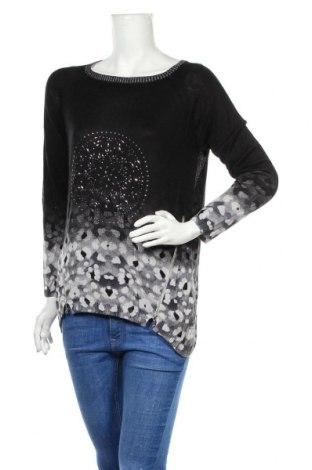 Γυναικείο πουλόβερ Desigual, Μέγεθος M, Χρώμα Μαύρο, 95% βισκόζη, 3% πολυεστέρας, 2% μεταλλικά νήματα, Τιμή 36,80€