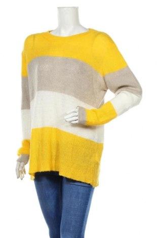 Дамски пуловер Free Quent, Размер L, Цвят Многоцветен, 62% акрил, 30% полиамид, 8% мохер, Цена 10,59лв.