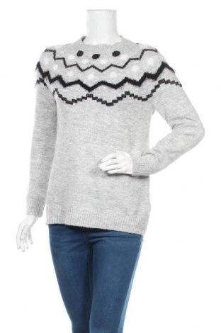 Дамски пуловер Jean Pascale, Размер S, Цвят Сив, 61% акрил, 35% полиестер, 2% метални нишки, 2% еластан, Цена 9,64лв.