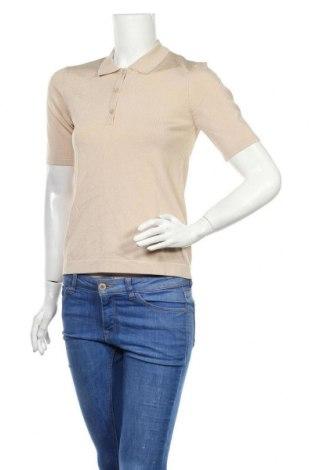 Pulover de femei Massimo Dutti, Mărime S, Culoare Ecru, 58% viscoză, 40% poliamidă, 2% elastan, Preț 175,66 Lei