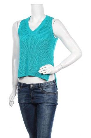 Pulover de femei Massimo Dutti, Mărime S, Culoare Verde, 54% bumbac, 46% viscoză, Preț 175,66 Lei