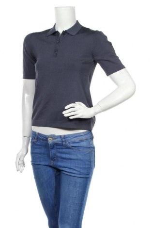 Pulover de femei Massimo Dutti, Mărime M, Culoare Albastru, 58% viscoză, 40% poliamidă, 2% elastan, Preț 175,66 Lei