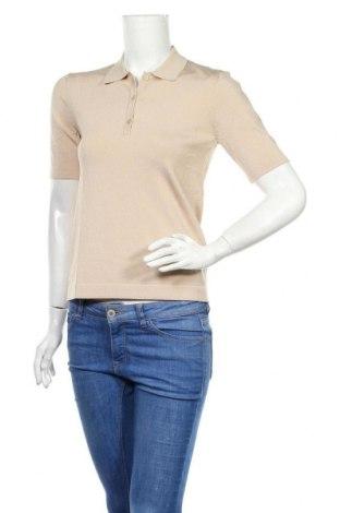 Pulover de femei Massimo Dutti, Mărime S, Culoare Ecru, 58% viscoză, 40% poliamidă, 2% elastan, Preț 153,95 Lei