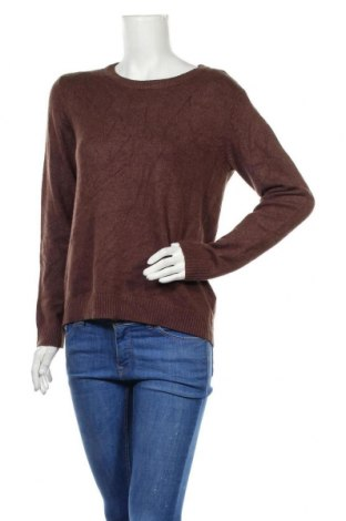Дамски пуловер Vila, Размер M, Цвят Кафяв, 50% вискоза, 27% полиамид, 23% полиестер, Цена 10,02лв.