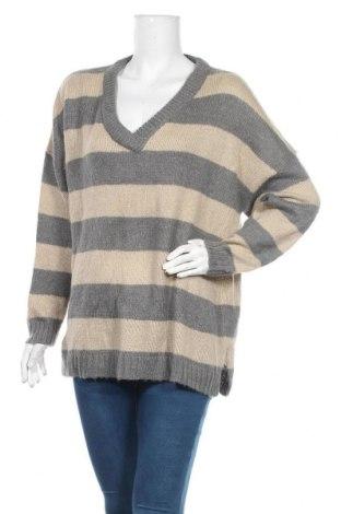 Дамски пуловер Vrs Woman, Размер L, Цвят Сив, 70% акрил, 13% полиестер, 10% полиамид, 7% вълна от алпака, Цена 12,17лв.