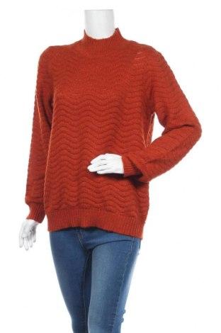 Дамски пуловер Y.A.S, Размер L, Цвят Кафяв, 63% акрил, 27% полиамид, 10% вълна, Цена 9,91лв.