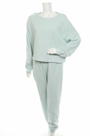 Дамски спортен комплект Anna Field, Размер L, Цвят Зелен, Памук, Цена 32,64лв.