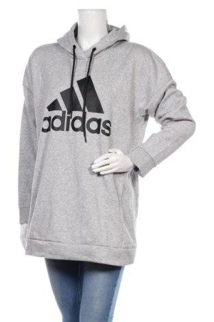 Hanorac de femei Adidas, Mărime XL, Culoare Gri, 77% bumbac, 23% poliester, Preț 162,47 Lei
