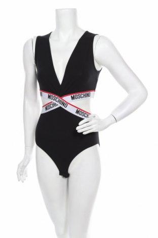 Боди Moschino underwear, Размер M, Цвят Черен, 95% памук, 5% еластан, Цена 121,05лв.