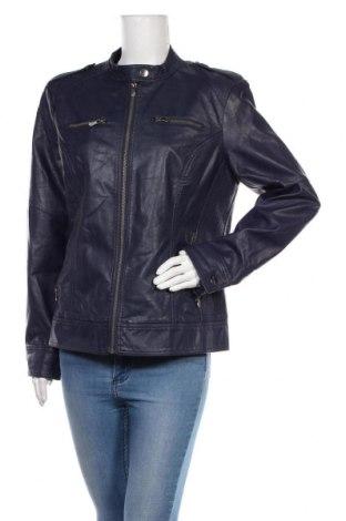 Дамско кожено яке, Размер XL, Цвят Син, Еко кожа, Цена 30,35лв.