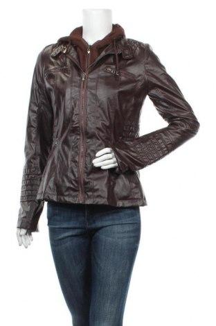Дамско кожено яке, Размер M, Цвят Червен, Еко кожа, Цена 24,26лв.