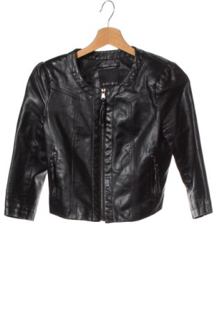 Дамско кожено яке Amisu, Размер XS, Цвят Черен, Еко кожа, Цена 30,35лв.
