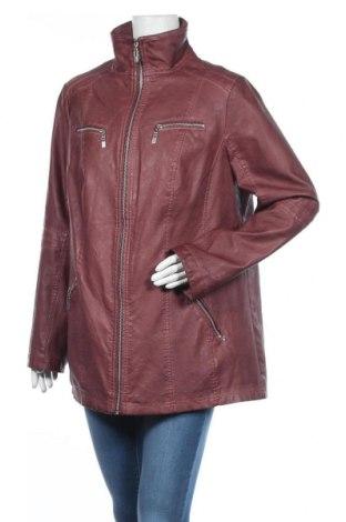 Дамско кожено яке Canda, Размер XL, Цвят Червен, Еко кожа, Цена 33,92лв.