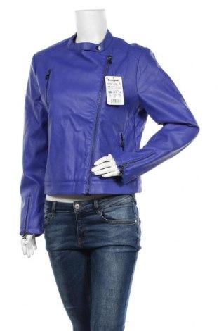 Дамско кожено яке Desigual, Размер XL, Цвят Лилав, Еко кожа, Цена 62,70лв.