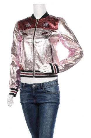 Дамско кожено яке Desigual, Размер S, Цвят Многоцветен, Еко кожа, Цена 65,70лв.