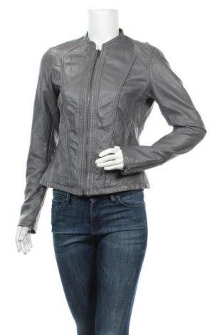 Дамско кожено яке Flame, Размер M, Цвят Сив, Еко кожа, Цена 14,70лв.