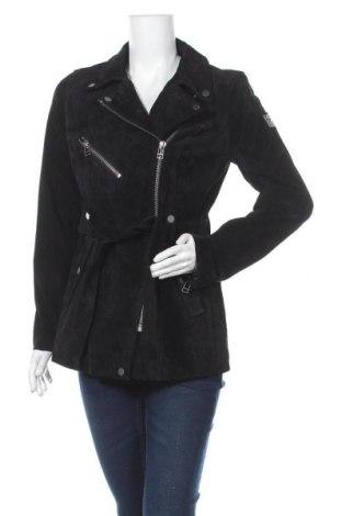 Дамско кожено яке Freaky Nation, Размер M, Цвят Черен, Естествен велур, Цена 125,70лв.